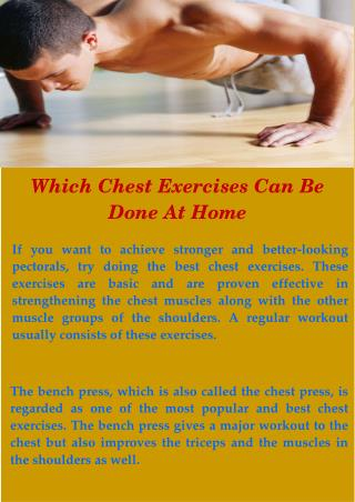 The Best Chest Exercises At Home