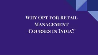 Why Opt for Retail Management Courses in India
