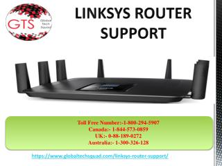 Linksys Router Support | 1-800-294-5907 | GlobalTech Squad