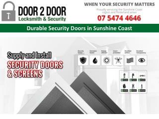 Durable Security Doors in Sunshine Coast