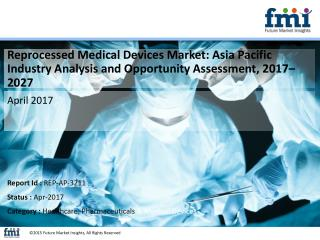 Asia Pacific Reprocessed Medical Devices Market projected to expand at 15.7% CAGR, 2017-2027