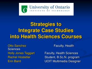 Strategies to Integrate Case Studies into Health Sciences Courses