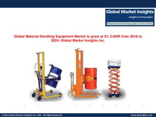 Material Handling Equipment Market share to grow at 5% CAGR from 2016 to 2024