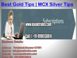 Best Gold Tips | Mcx Crude Oil Tips In India