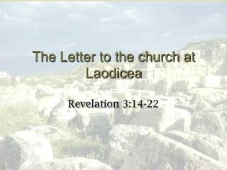 The Letter to the church at Laodicea
