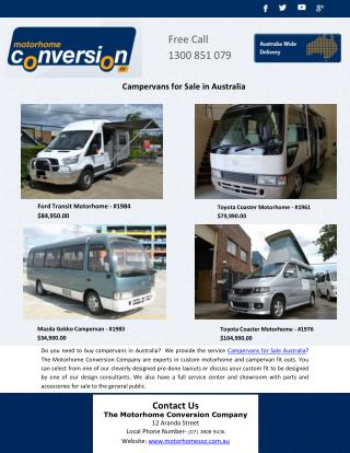 Campervans for Sale in Australia