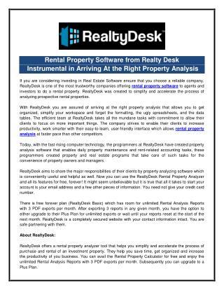 Rental Property Software