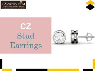 Cubic Zirconia Stud Earrings Collection - CZ Jewelry