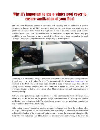 swimming pool motor covers