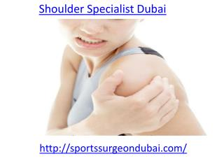 Who is the Shoulder Specialist in Dubai