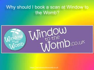 Why should I book a scan at Window to the Womb ?