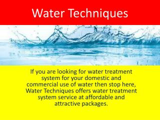 #1 Rated Home Water Treatment Systems - Water Techniques