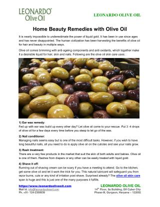 Home Beauty Remedies with Olive Oil