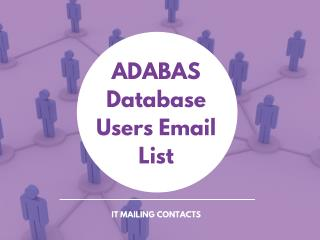 ADABAS Database Users Email List