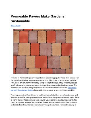 Permeable Pavers Make Gardens Sustainable