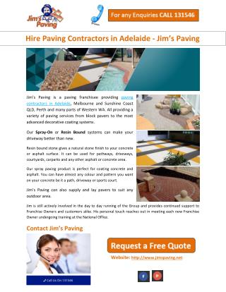 Hire Paving Contractors in Adelaide - Jim's Paving