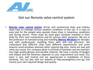 Get our remote valve control system