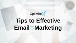 Tips to Effective Email Marketing