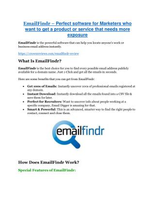 EmailFindr review-$26,800 bonus & discount
