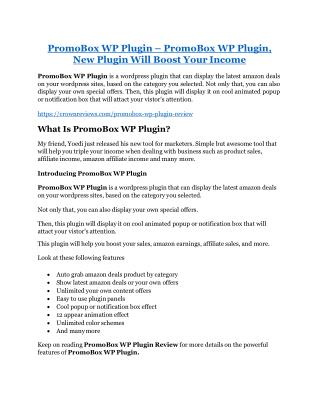 PromoBox WP Plugin  review and (COOL) $32400 bonuses
