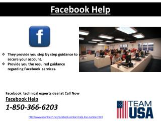 Team you get it systemically by the Facebook Help @1-850-366-6203 team?