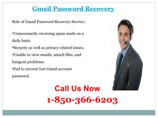 Tackle all Emailing Issues by Dialing 1-850-366-6203 Gmail Password Recovery