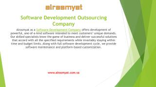 Get efficiency in your business with Alrasmyat Software Development Outsourcing