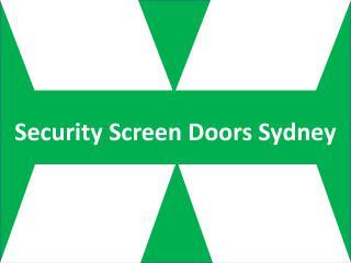 Security Screen Doors Sydney