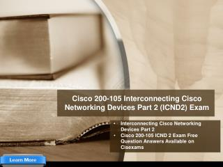 Download Cisco 200-105 ICND2 Exam PDF Questions Answers