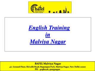 English Training in Malviya Nagar Delhi