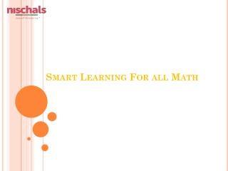smart learning for all maths
