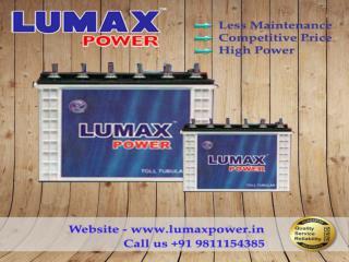 Get Long Lasting Lumax Inverter Battery Dial 9811154385
