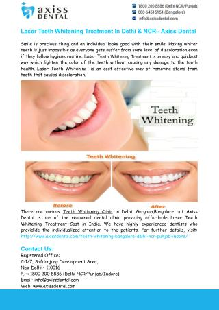 Teeth Whitening Clinic Delhi, Teeth Whitening Treatment Delhi