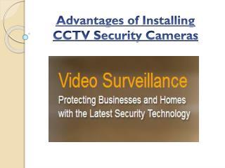 Advantages of Security surveillance cameras in Edmonton