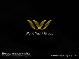 World Yacht Group - Types Of  Luxury Yachts