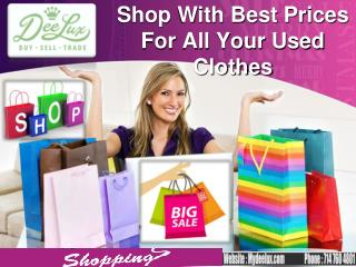 Shop With Best Prices For All Your Used Clothes