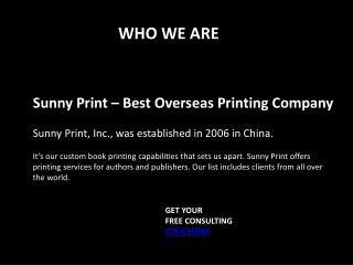 Printing in China - Sunnyprintco