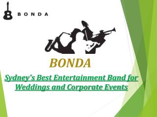 Best Live Wedding Entertainment Bands in Melbourne