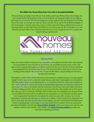Home Extension Builders in Adelaide