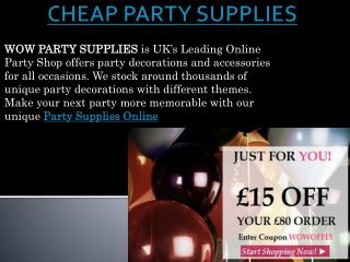 CHEAP PARTY SUPPLIES | PARTY SUPPLIES ONLINE | PARTY SUPPLIES UK - WOWPARTYSUPPLIES