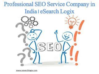 Professional SEO Service Company in India | eSearch Logix
