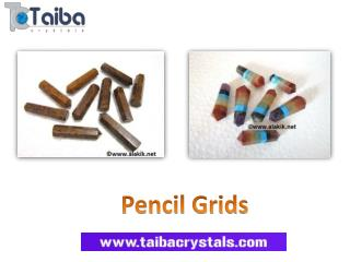 Gemstone Pencil Grids Wholesale Suppliers by Taiba Crystals