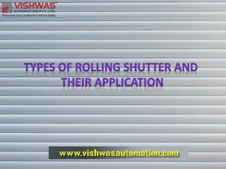 Types of Rolling Shutter and Their Application