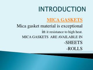 Mica Gasket Sheet Produced by Axim Mica