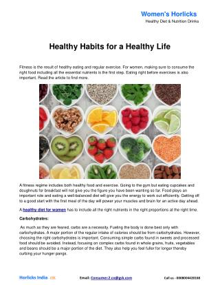 Healthy Habits for a Healthy Life