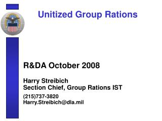 Unitized Group Rations