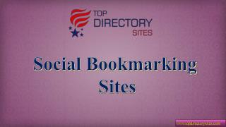 Free Social Bookmarking Submission Sites List