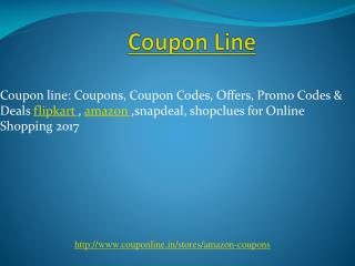 Amazon Coupon Code, Promo code For all Online Shopping | Couponline