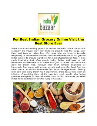 For Best Indian Grocery Online Visit the Best Store Ever