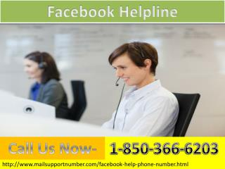 If  any problem over facebook call 1-850-366-6203  for getting best result